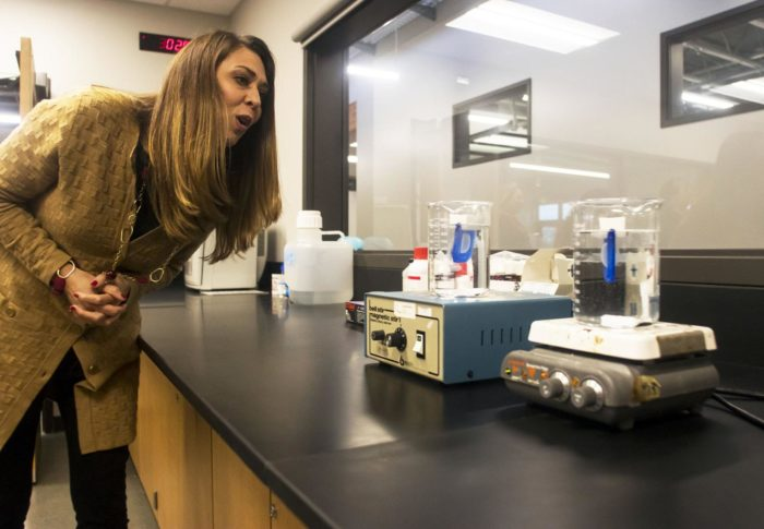 Congresswoman Impressed After Tour of New STEM Wing at W.F. West High School